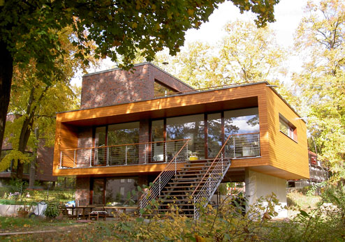 Moderne holzh user architektur for Modernes haus mit holz